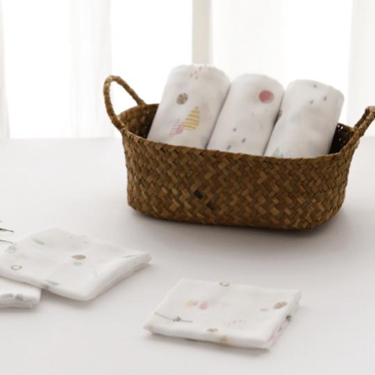 Mild Bamboo Cotton Candy Gauze Handkerchiefs (Set of 6)