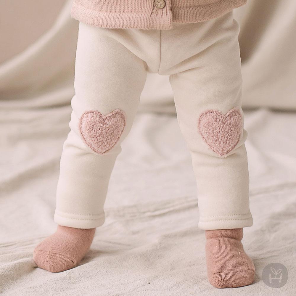 Amor Fleece Lined Winter Leggings – Beige