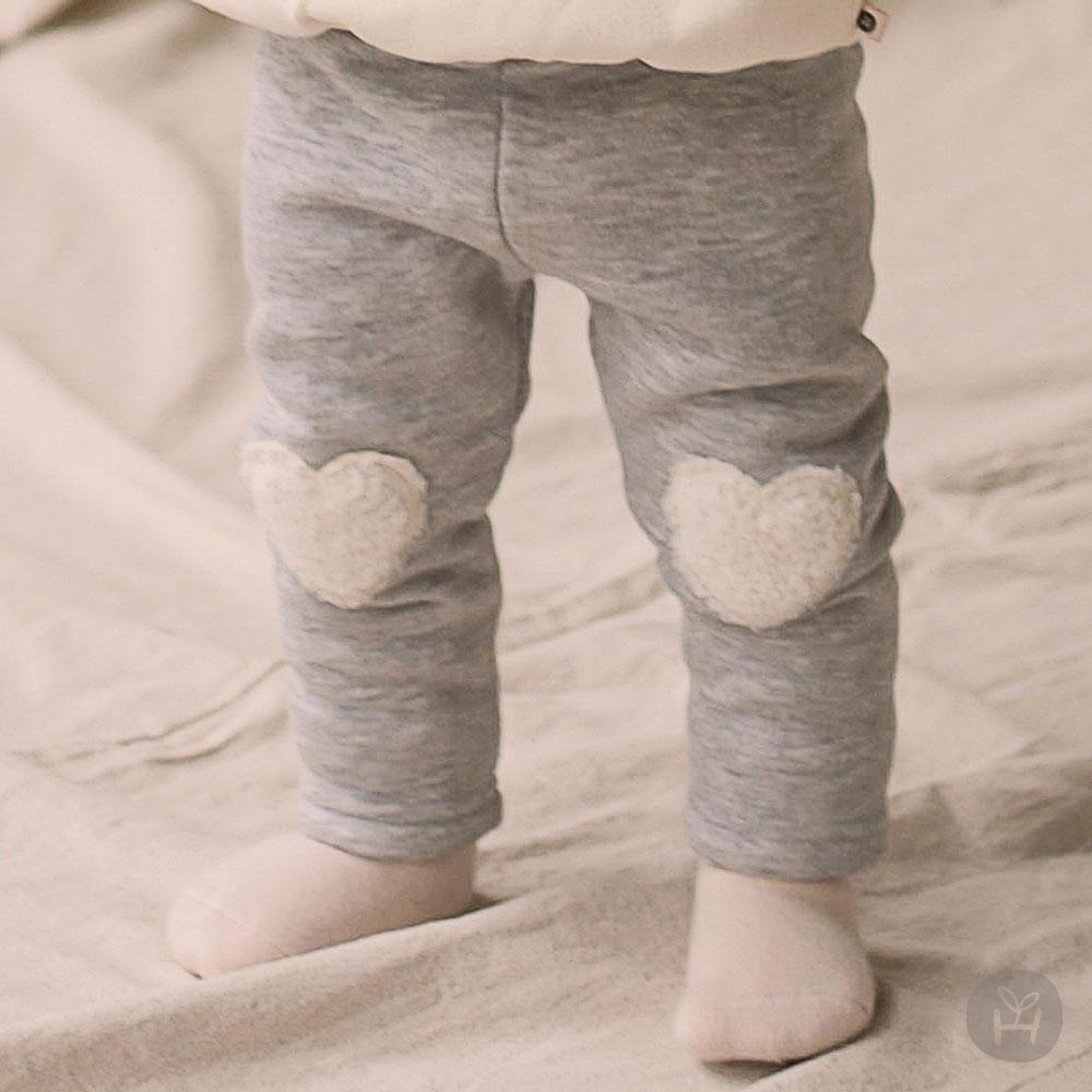 Amor Fleece Lined Leggings – Gray