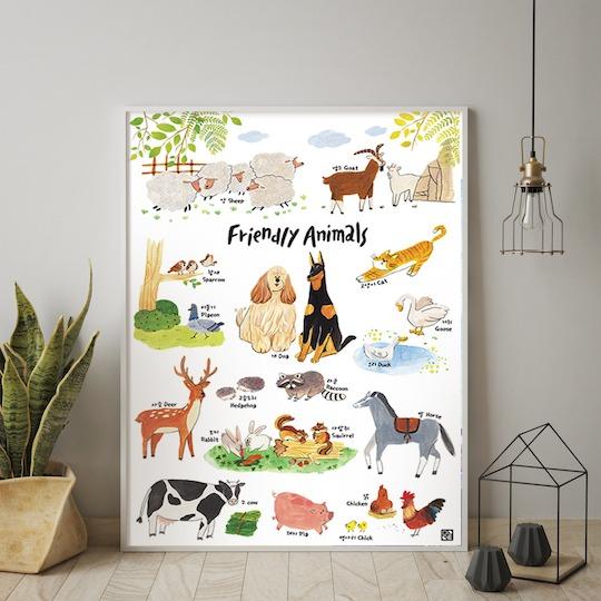 Friendly Animals (Korean-English)
