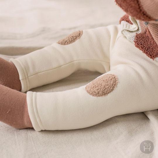 Cream Dante Fleece Lined Leggings