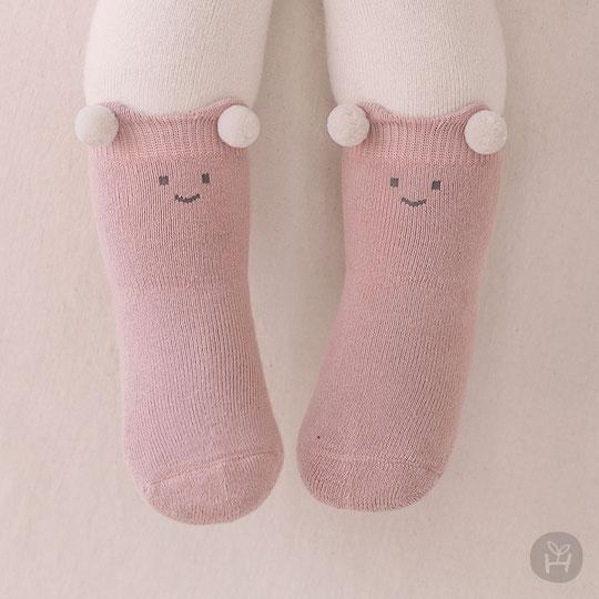 Furry Pong Pong Winter Socks