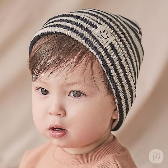Bonita Stripe Beanie – Charcoal