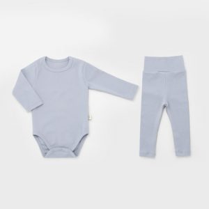 Blue Spandex Bodysuit Set