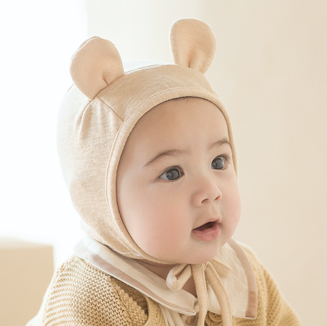 Bebe Bear Bonnet (Creamy Yellow)