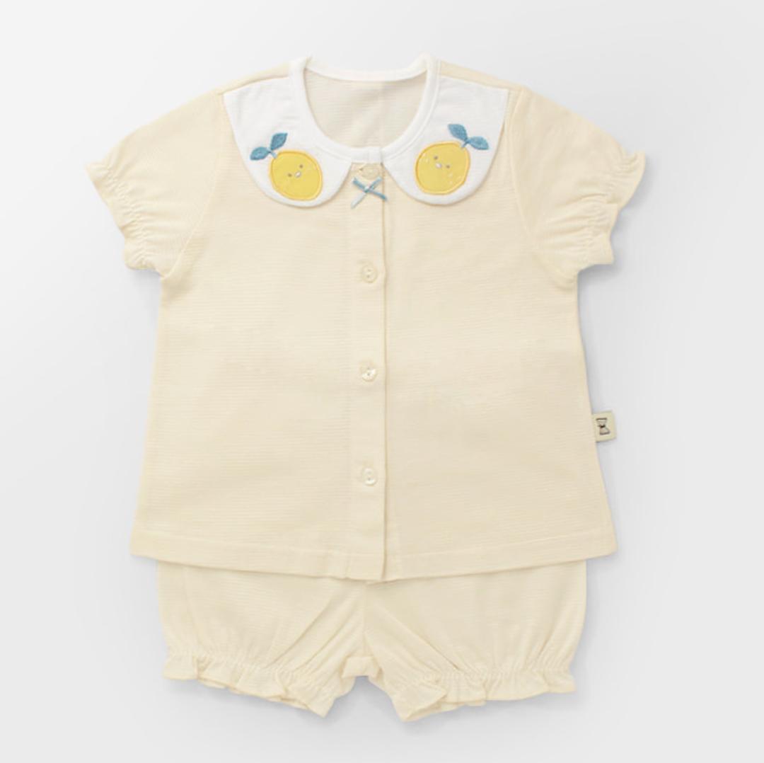 Lemon Jacquard Summer PJ Set