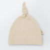 Soft Sand Beige Top Knot Hat
