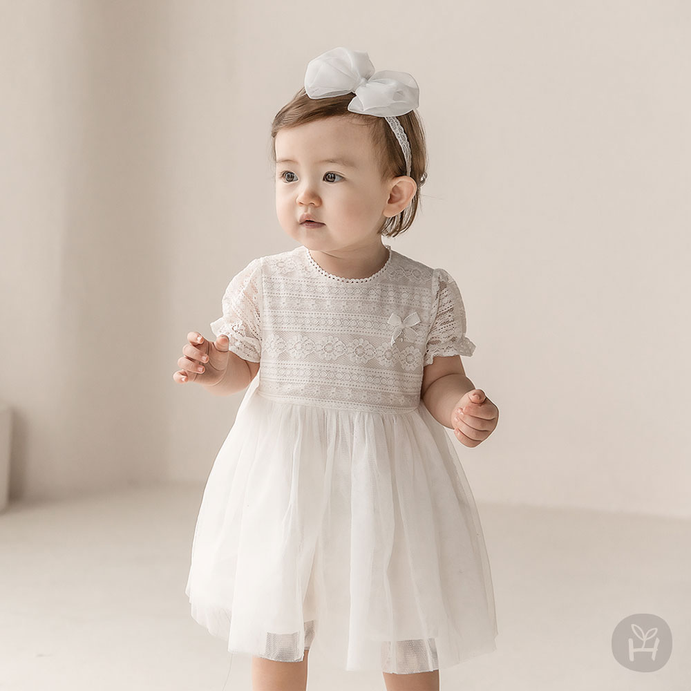 Selena Lace Baby One-Piece Dress