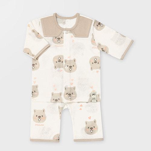 Bear Jacquard Summer PJ Set