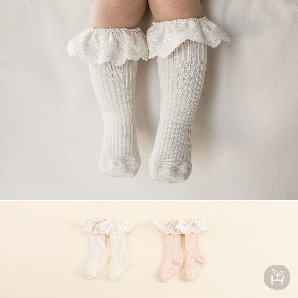 Latty Lace Baby Knee Socks
