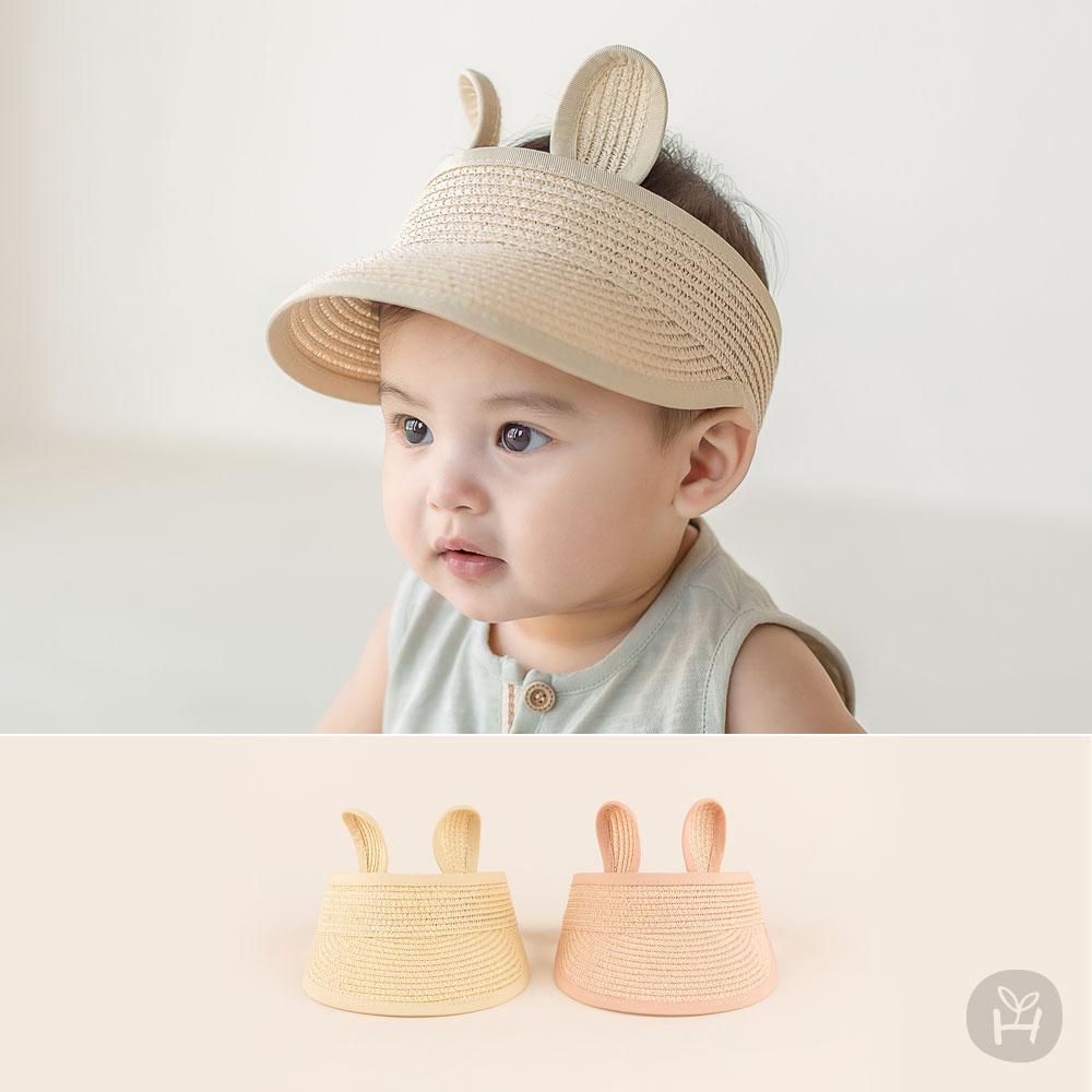 Rabbit Straw Baby Sun Cap with Visor