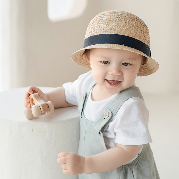 Happy Prince Baby Straw Fedora