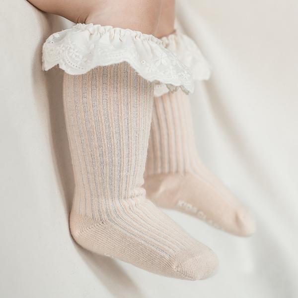 Latty Lace Baby Knee Socks