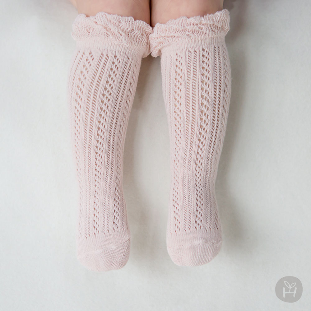 Doubleray Baby Knee Socks – Pink