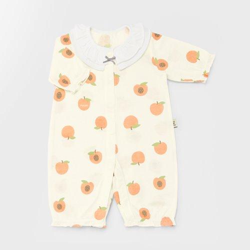 Apricot Jacquard Summer Coveralls