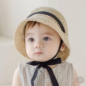Happy Prince Baby Straw Hat