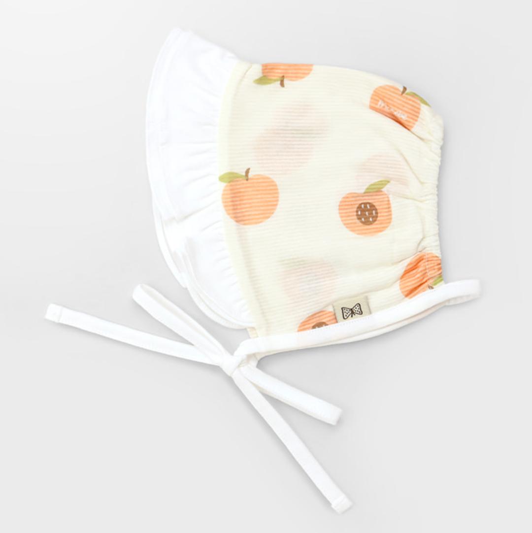 Apricot Jacquard Summer Bonnet