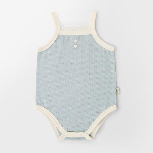 Cotton Mesh Vintage Blue Summer Bodysuit