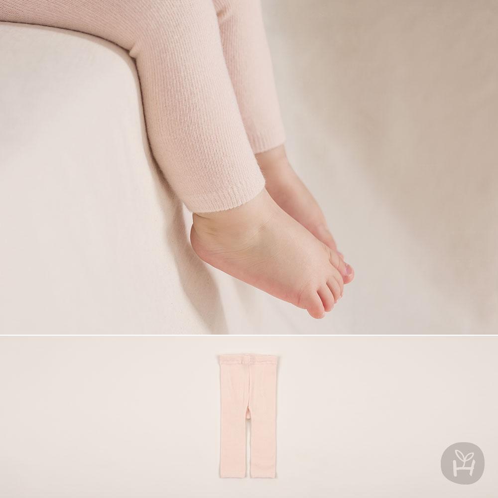 New Pink Plain Leggings
