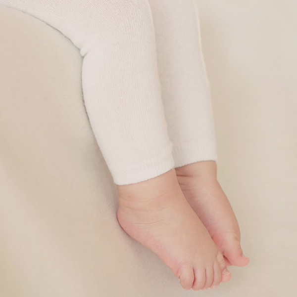 Happy Prince White Plain Leggings