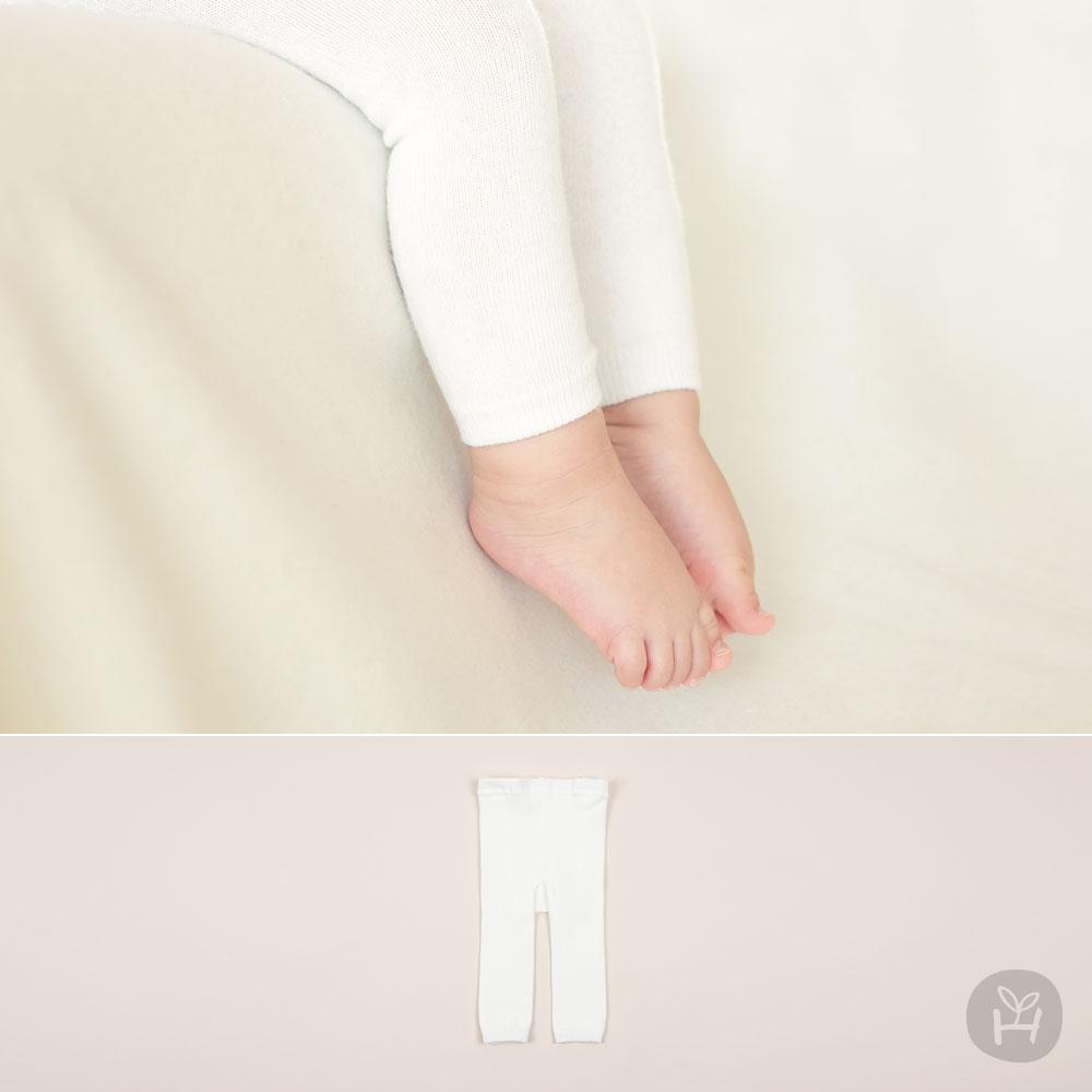 White Plain Leggings