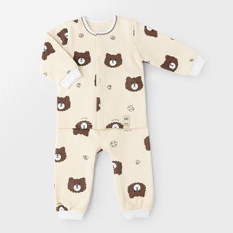Brown Bear Winter PJ set