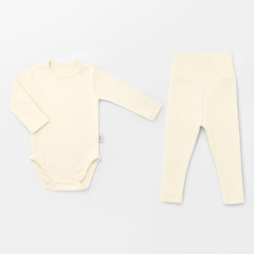 Cream Spandex Bodysuit Set