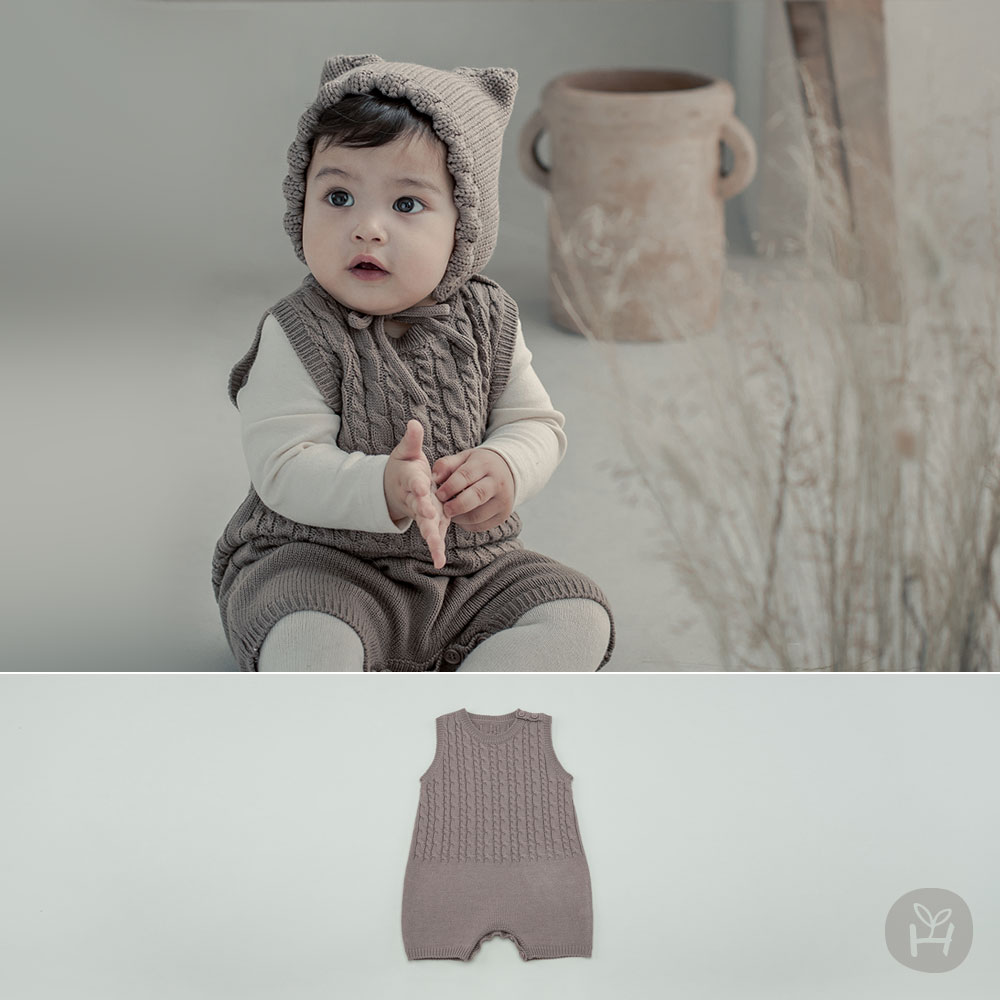 Moi Knit Baby Coveralls