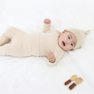 Beige Spandex Fleece PJ Set