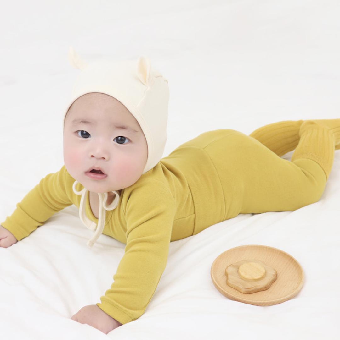 Mustard Spandex Fleece PJ Set