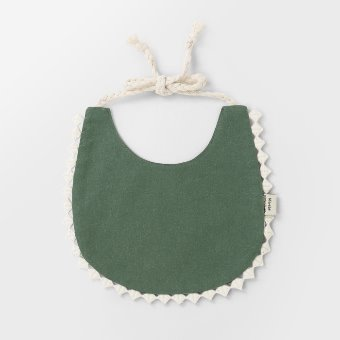 Deep Green Cotton Bib