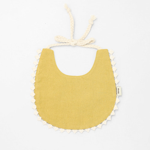 Mustard Cotton Bib