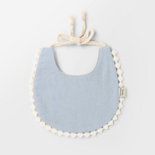 Blue Cotton Bib