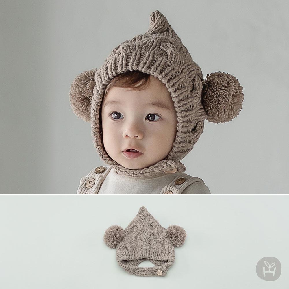 Elf Bell Knit Baby Hat