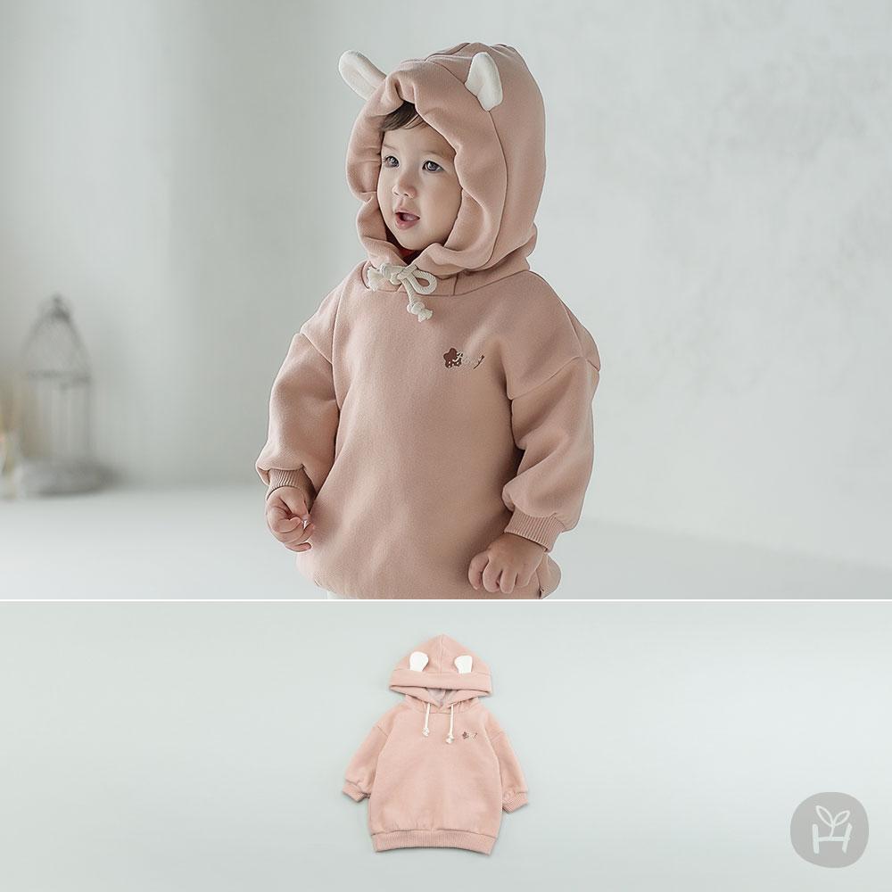 Melanie Hood Fleece Lined Baby Sweatshirt