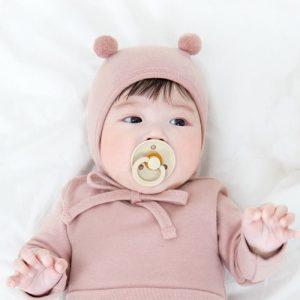Pink Pom Pom Bonnet