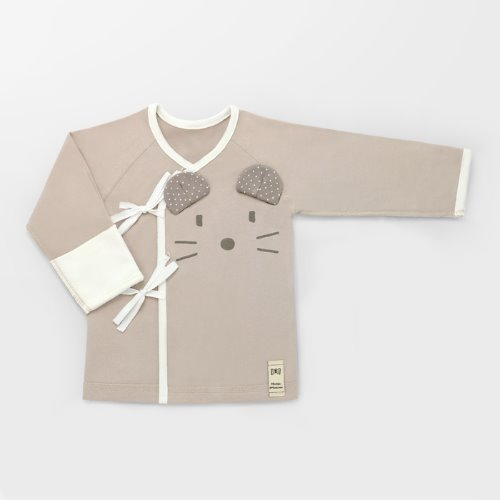 Beige Mouse Newborn Spring/Fall Top