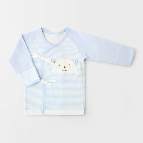 Blue Teddy Bear Four Seasons Newborn Spring/Fall Top