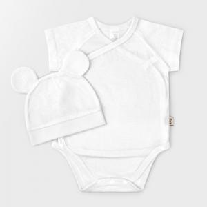 White Cotton Mesh Summer Bodysuit + Hat
